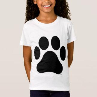 Camiseta O t-shirt da menina preto e branco do impressão da