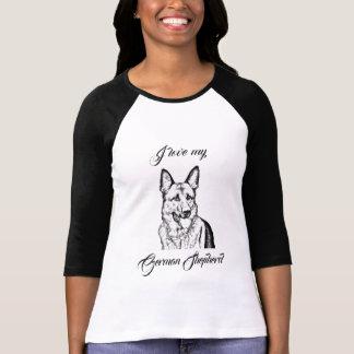 Camiseta O t-shirt da mulher - amor de I meu german