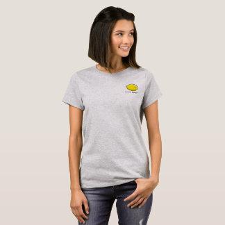 Camiseta O t-shirt da mulher cinzenta do pelotão do limão