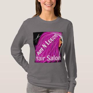 Camiseta O t-shirt da senhora do cabelo/Kut cor-de-rosa N