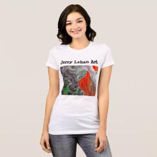 Camiseta O t-shirt da senhora Pastel do óleo