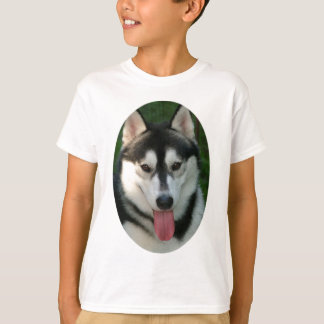 Camiseta O t-shirt das crianças do cão de trenó