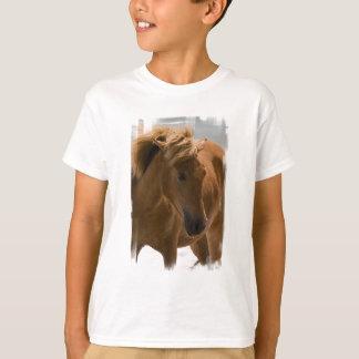 Camiseta O t-shirt das crianças do design do cavalo da