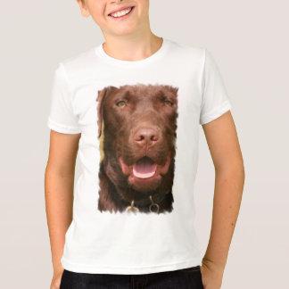 Camiseta O t-shirt das crianças do laboratório do chocolate