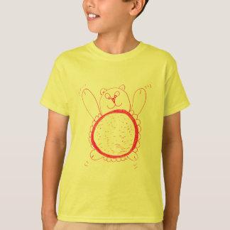 Camiseta O t-shirt das crianças do urso do girassol