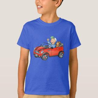 Camiseta O t-shirt das crianças escuras do carro vermelho