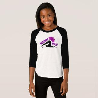 Camiseta O t-shirt das meninas com sinal insano do iogue