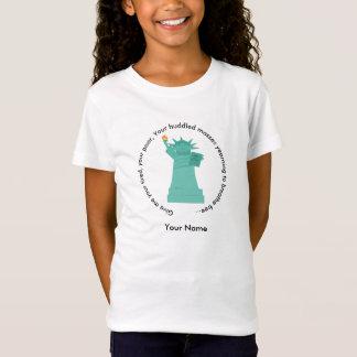 Camiseta O t-shirt das meninas da estátua da liberdade
