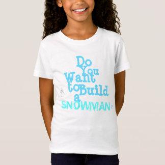 """Camiseta O t-shirt das meninas do """"boneco de neve"""""""