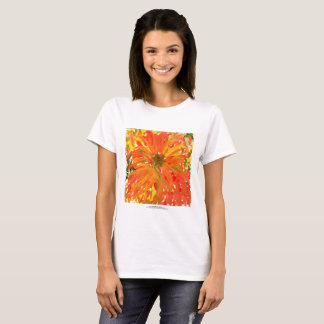 Camiseta O t-shirt das mulheres alaranjadas gloriosas da