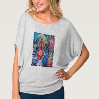 Camiseta O t-shirt das mulheres Arco-íris-loving da deusa