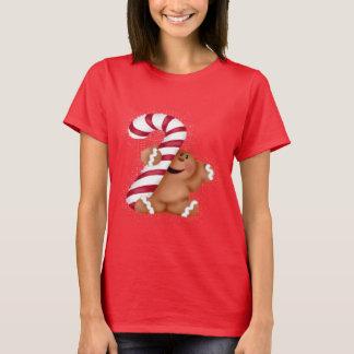 Camiseta O t-shirt das mulheres básicas do pão do gengibre