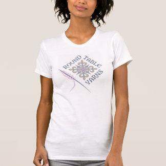 Camiseta O t-shirt das mulheres com mesa redonda Yarns o