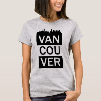 Camiseta O t-shirt das mulheres com rotulação de Vancôver