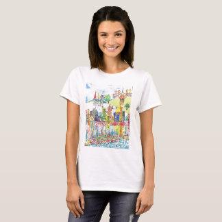 Camiseta O t-shirt das mulheres da arquitectura da cidade