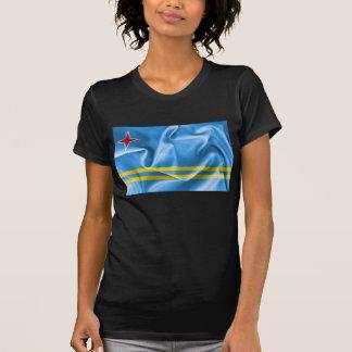 Camiseta O t-shirt das mulheres da bandeira de Aruba
