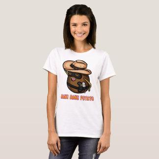 Camiseta O t-shirt das mulheres da batata do golpe do golpe