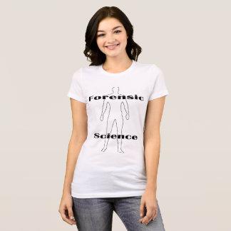 Camiseta O t-shirt das mulheres da ciência forense