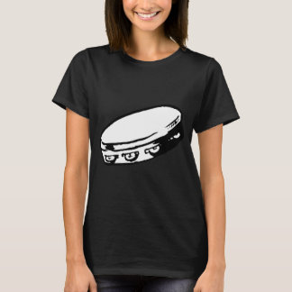 Camiseta O t-shirt das mulheres da ilustração do pandeiro