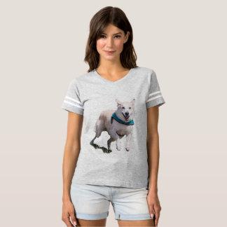 Camiseta O t-shirt das mulheres da imagem do cão