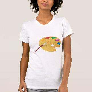 Camiseta O t-shirt das mulheres da paleta dos pintores