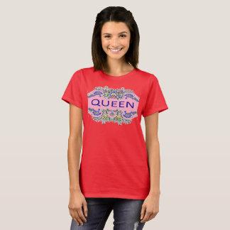 Camiseta O t-shirt das mulheres da RAINHA