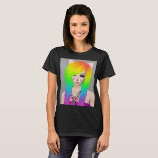 Camiseta O t-shirt das mulheres da rainha da cena do
