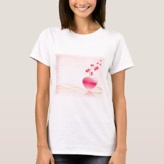 Camiseta O t-shirt das mulheres da vida do coração