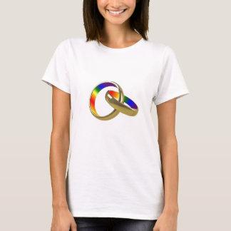 Camiseta O t-shirt das mulheres das alianças de casamento