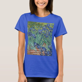 Camiseta O t-shirt das mulheres das íris de Vincent van