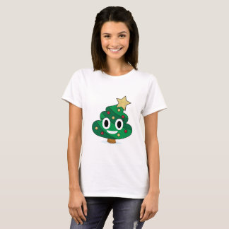Camiseta O t-shirt das mulheres de Emoji do tombadilho da