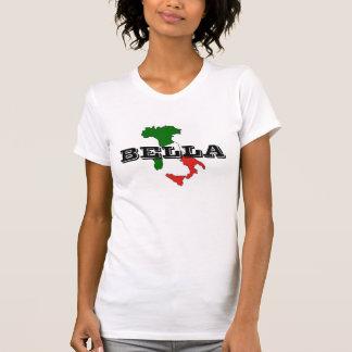 Camiseta O t-shirt das mulheres de Italia Bella, branco