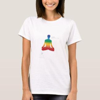 Camiseta O t-shirt das mulheres de OM Lotus Chakras