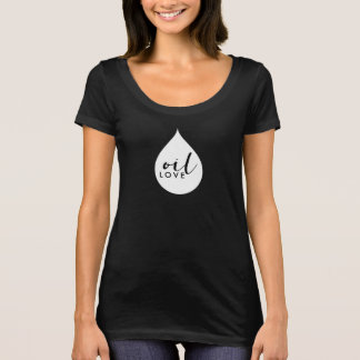 Camiseta O t-shirt das mulheres do amor do óleo