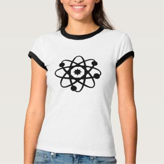 Camiseta O t-shirt das mulheres do átomo