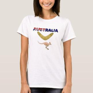 Camiseta O t-shirt das mulheres do Bumerangue do canguru de