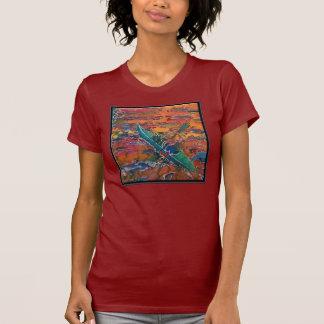 Camiseta O t-shirt das mulheres do caiaque