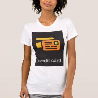 Camiseta O t-shirt das mulheres do cartão de crédito