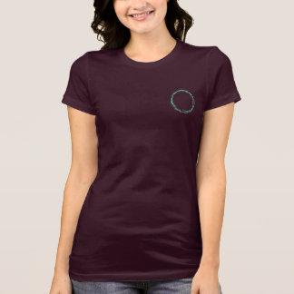 Camiseta o t-shirt das mulheres do círculo da onda