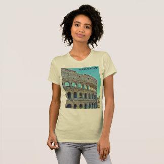 Camiseta O t-shirt das mulheres do Colosseum de Roma