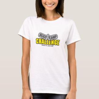 Camiseta O t-shirt das mulheres do desafio de Boot Camp -