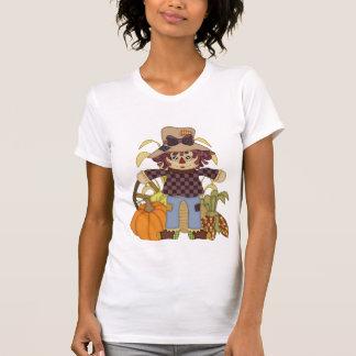 Camiseta O t-shirt das mulheres do espantalho da queda