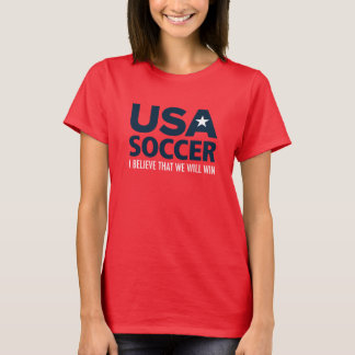 Camiseta O t-shirt das mulheres do futebol dos EUA