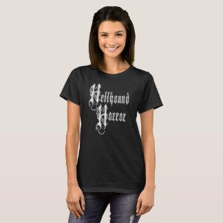 Camiseta O t-shirt das mulheres do logotipo do horror do