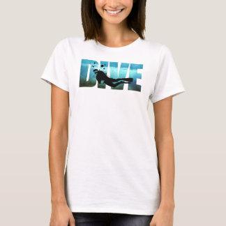 Camiseta O t-shirt das mulheres do mergulho autónomo do