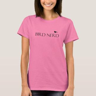 Camiseta O t-shirt das mulheres do nerd do pássaro