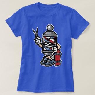 Camiseta O t-shirt das mulheres do patinador do barbeiro