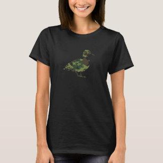 Camiseta O t-shirt das mulheres do pato de Camo