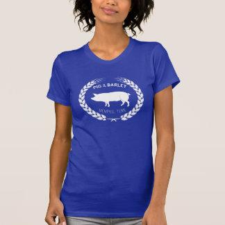 Camiseta O t-shirt das mulheres do porco & da cevada