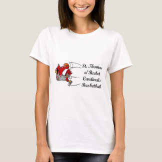 Camiseta O t-shirt das mulheres do roteiro do basquetebol